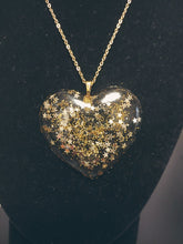 Load image into Gallery viewer, Golden Star Heart Necklace