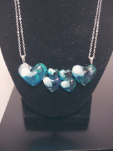 Load image into Gallery viewer, Transparent Ocean Blue Heart Necklace