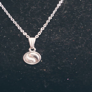Ba Gua Yin Yang Charm Necklace