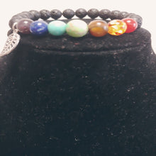 Load image into Gallery viewer, 7 Chakra Lava Stones Bracelet