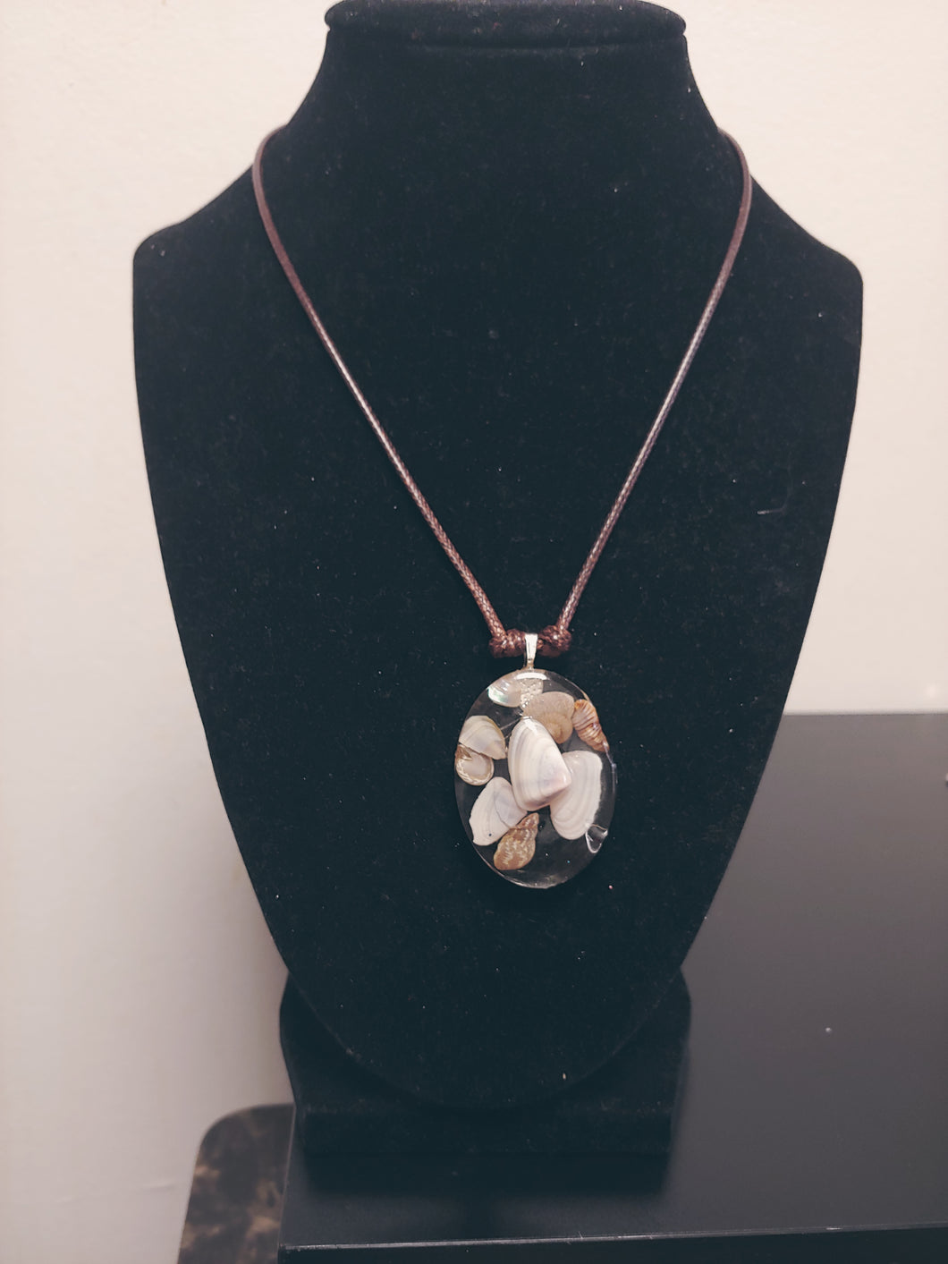 Seashell Beach Theme Pendant Necklace