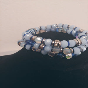 Glass Beaded Brace Triple Bracelet Set