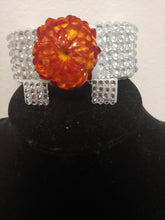 Load image into Gallery viewer, Crystal Rhinestone Daisy Cuff Bracelet Set