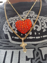 Load image into Gallery viewer, Crystal Rhinestone Heart Shape Necklace