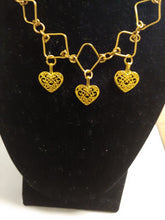 Load image into Gallery viewer, Women Handcrafted Brass Heart Charm Set