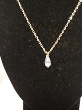 Load image into Gallery viewer, Transparent Crystal Teardrop Necklace