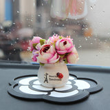 Car Ornaments Creative Car Potted Plant Flowers