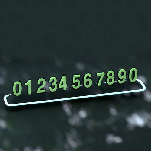 Car Styling Luminous Auto Temporary Parking Card