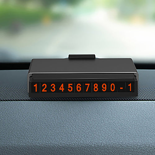 Hidden Car Temporary Parking Card Phone Number Plate