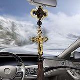 Car Pendant Metal Diamond Cross Jesus