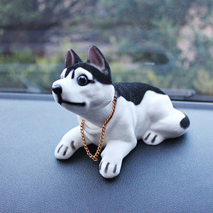 Car Ornaments Funny Nodding Head Shaking Dog