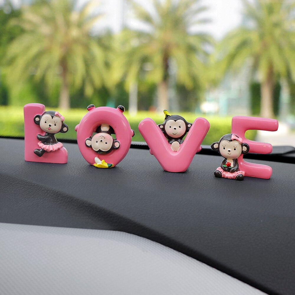 Car Ornaments 4pcs/lot Lovely Surround Love Monkey Dolls