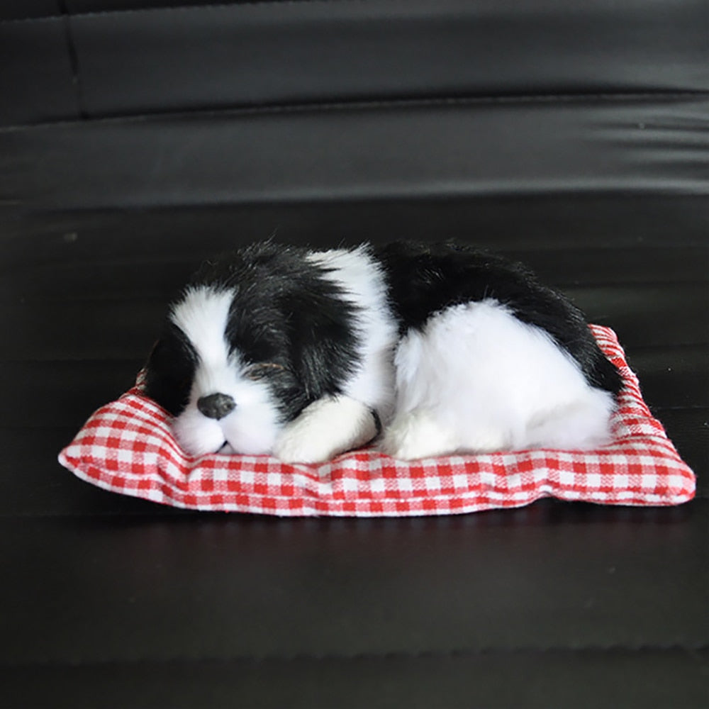 Car Ornament ABS Plush Dogs Decoration Sleeping Dog Toy