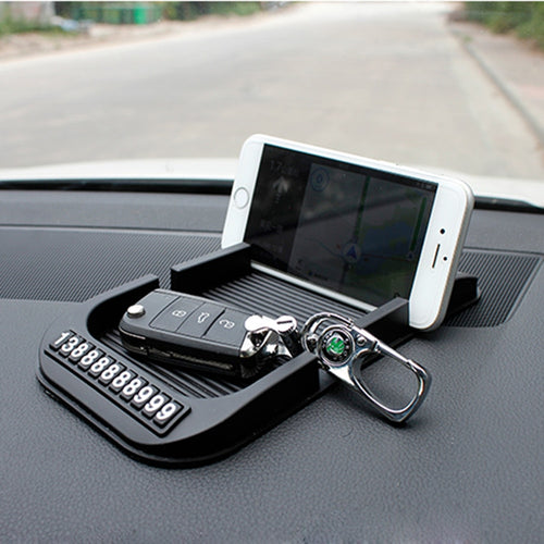 Car Dashboard Anti-Slip Mat With Cell Phone Number Auto Non-slip Pad
