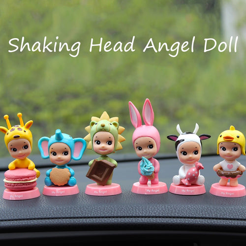 Car Ornament PVC Cute Angel Baby Decoration Doll Shaking head
