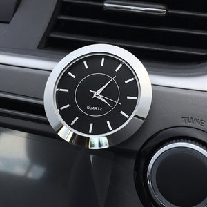 Car Clock Ornament Automotive Quartz Stick-On Clock