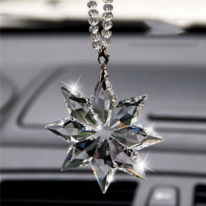 Crystal Snowflakes Decoration Car Pendant