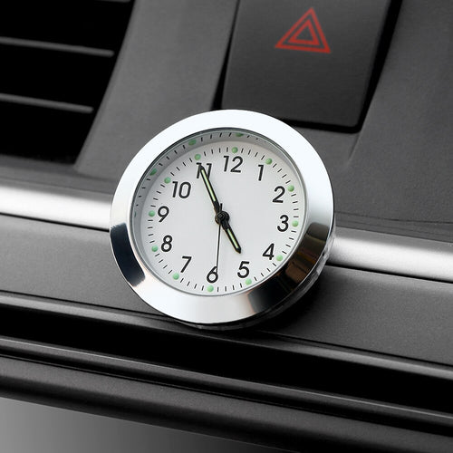 Car Ornament Automotive Interior Stick On Decoration Clock
