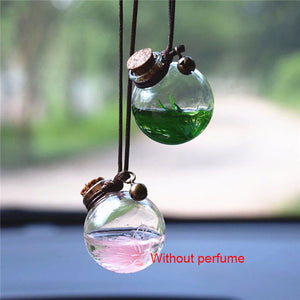 Empty Glass Perfume Bottle Suspension Ornament