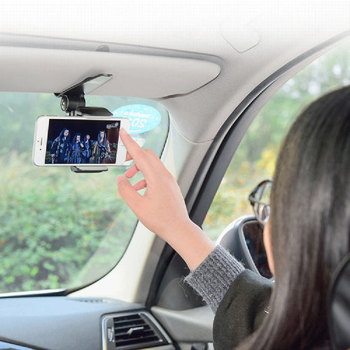 Car Sun Visor Phone Holder 360 Degree Rotation