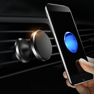 Magnetic Car Phone Holder for Air Vent & Dashboard