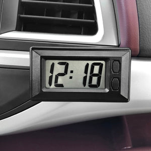 Car Clock LCD Digital Time Display Self-Adhesive Stick-On Watch