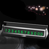 Hidden Car Temporary Parking Card Phone Number Sticker Luminous
