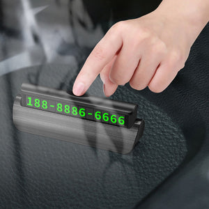 Hidden Luminous Phone Number Plate Stickers Car Temporary Parking Card