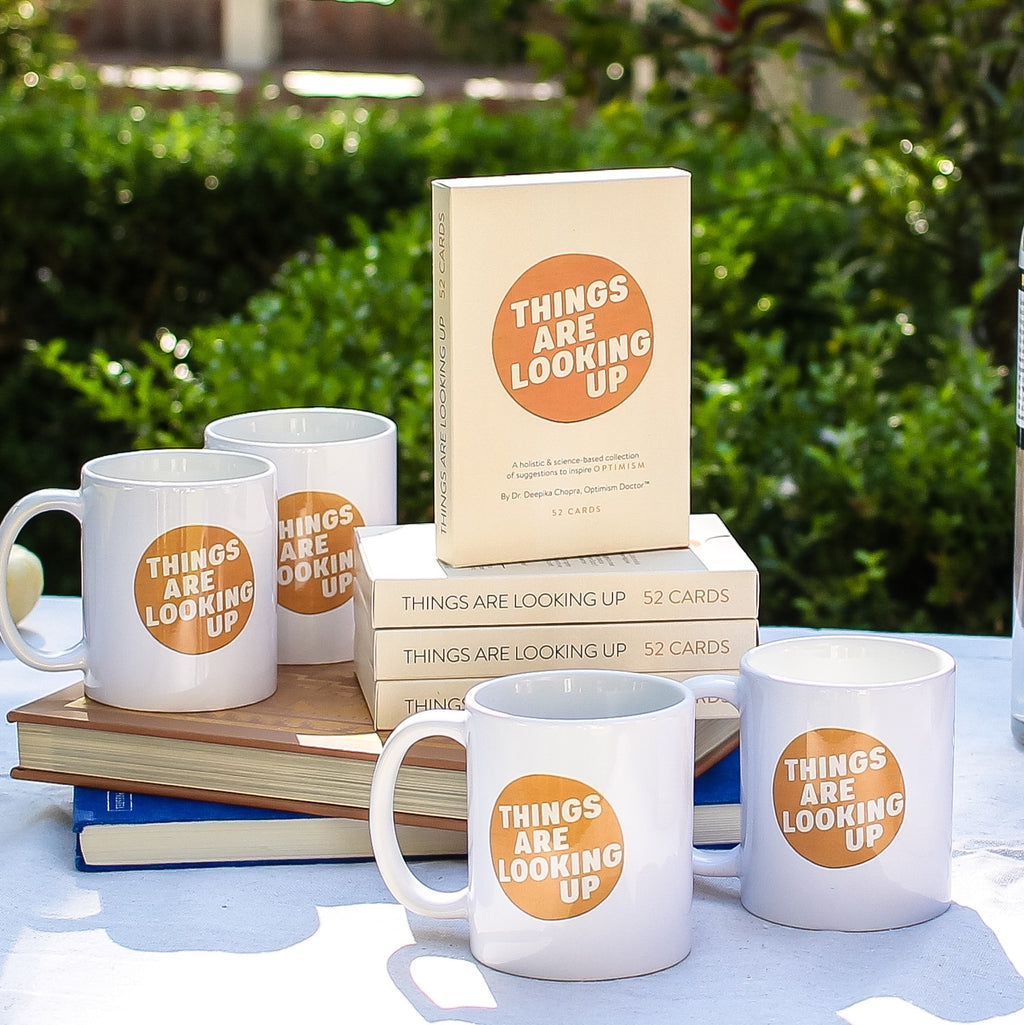 THINGS ARE LOOKING UP MUG + OPTIMISM ON DECK BUNDLE