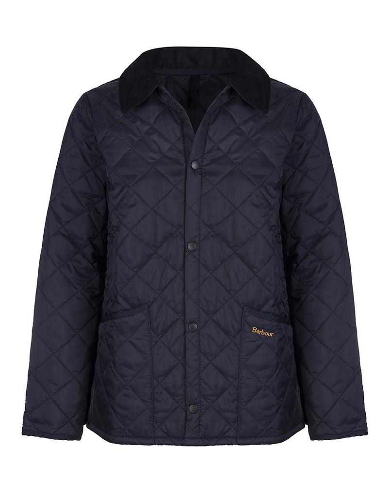 Barbour Childrens Quilted Liddesdale - Navy
