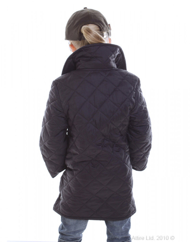 905fb6e99d1 Barbour Childrens Quilted Liddesdale - Navy. Images   1   2   3