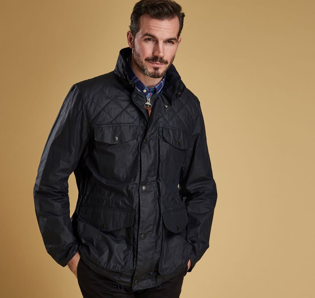 BARBOUR CLAPHAM - MENS WAXED COTTON JACKET