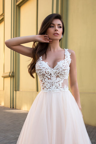Beaded Bodice / Tulle Skirt