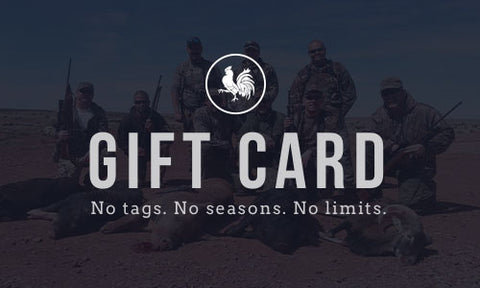 Blue Rooster Gift Card - Arizona Hunting Club