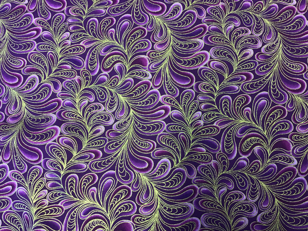 Cat-i-tude Purple Swirls metallic