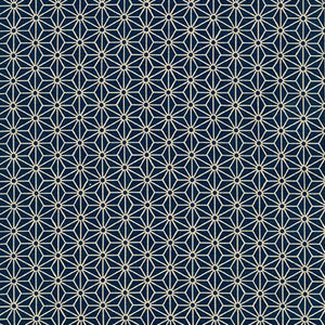 Sevenberry Kasuri Geo Shapes Navy