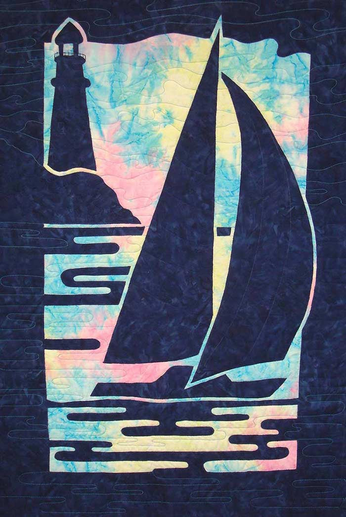 Hawaiian Sailboat and Lighthouse Quilt Pattern