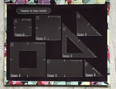 Hand Piecing Acrylic  Template Set