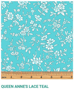 Garden Party by Eleanor Queen Anne's Lace Teal