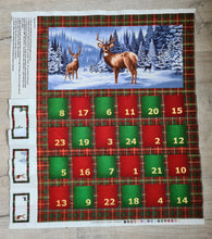 Load image into Gallery viewer, Highland Stags Fold Up Advent Calendar Panel