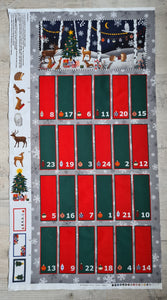 Woodland Animals Fold Up Advent Calendar Panel