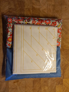 Pineapple Foundation by the Yard Quilt Kit Blue & Coral