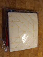 Load image into Gallery viewer, Pineapple Foundation by the Yard Quilt Kit Navy & Red