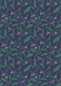 Celtic Coorie All over Thistle on Dark Blue