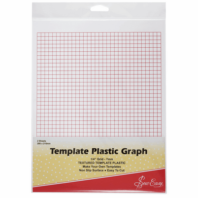 Sew Easy Printed Template Plastic