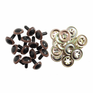 Brown Safety Toy Eyes 15mm