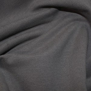 Solid Dark Grey Cotton Jersey 0.5m