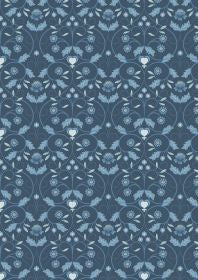Lewis and Irene Michaelmas Blue Mono Floral