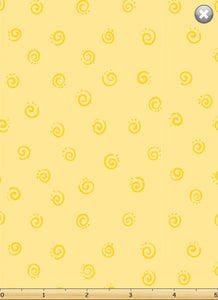 SuzyBee Yellow Swirls
