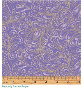 Cat-i-tude Featherly Paisley Purple